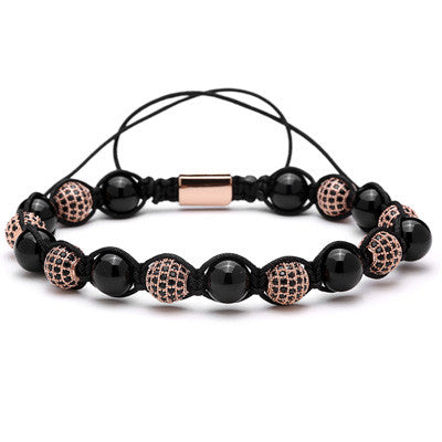 CZ Ball Round Stone Bracelet for Men