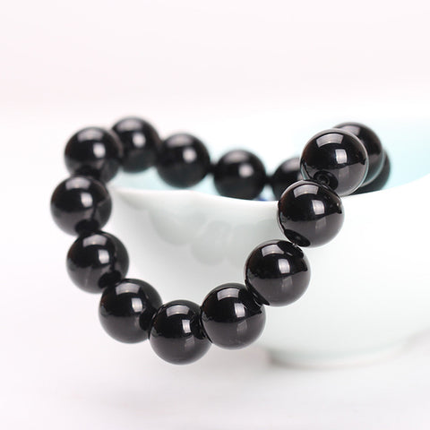 Basic Black Beaded Stone Bracelet for Men and Women: FREE!  Just Pay Shipping!