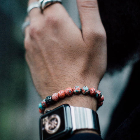 Lucky Marble Beaded Bracelet for Men