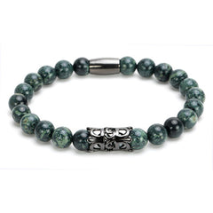 Stone Black  Woven Beaded Bracelets for Men and Women