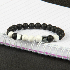 Stone Square Beaded Bracelet for Men and Women