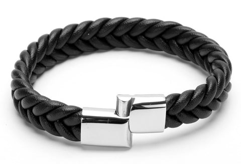 Rope Chain Leather Bracelet  for Men
