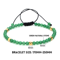 Natural Stone Beaded Strand Bracelet for Men