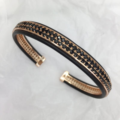 Micro Mosaic Cuff Bracelet for Men