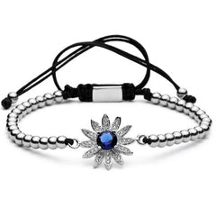 Sunflower Beaded Bracelet for Men and Women