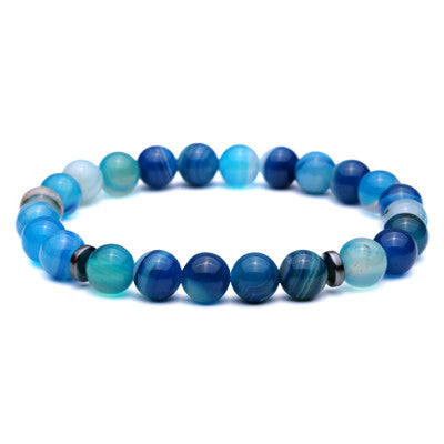 Sky Blue Beads Bracelet for Men - BraceletsDR