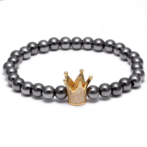 Gold crown Luxury bracelet Men/Woman- REF0057 - BraceletsDR