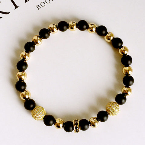Fashion Gold Plated Beads Bracelets for Men - BraceletsDR
