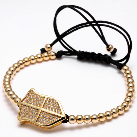 Men Bracelet Gold Plated Beads - REF0089 - BraceletsDR