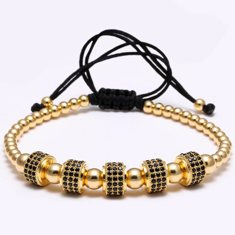 beads 24K gold plating Luxury Bracelet - REF0016 - BraceletsDR