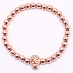 New style  Skull Red eyes Luxury Bracelet - REF0102 - BraceletsDR