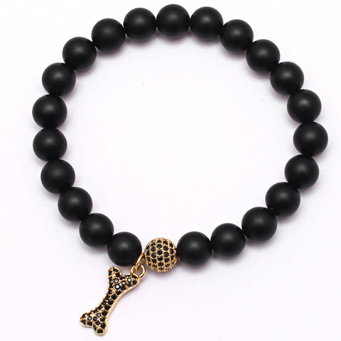 Bone Charm Luxury Beaded Bracelet for Men
