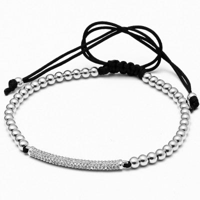 Men/Woman Macrame Bracelets Micro inlay zircon beads - REF0092 - BraceletsDR
