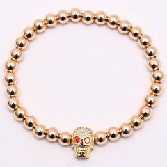 Skull Red Eyes Luxury Bracelet for Men - BraceletsDR