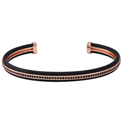 Fashion black rubber Luxury Bracelet - REF0195 - BraceletsDR