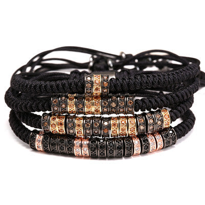 4 Styles Macrame Bangle Bracelets for Men - BraceletsDR