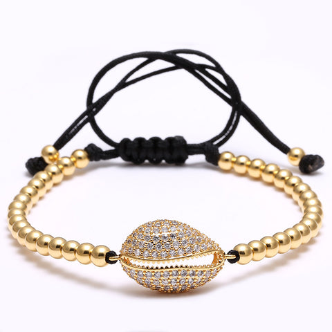 Shell Beaded Bracelet for Men and Women - BraceletsDR