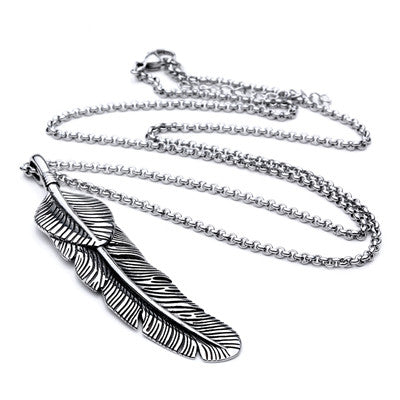 feather necklace - REF0200 - BraceletsDR