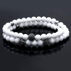Tibetan Silver Handmade Double Layered for Men - BraceletsDR