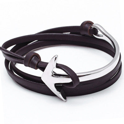Anchor Luxury Bracelet with Silver Anchor Clasp for Men and Women - BraceletsDR