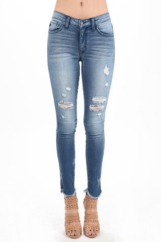 Kylee Ankle Distressed Denim