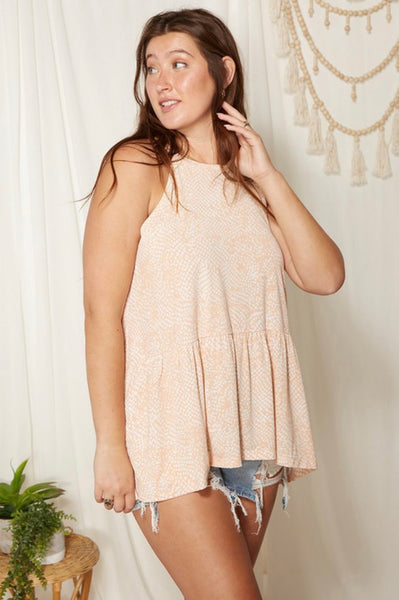 Curvy Dot Babydoll Top