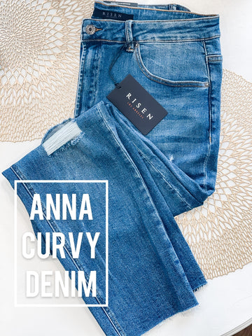 Anna Distressed Curvy Denim