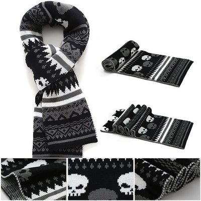 Cashmere Skull Scarf-The XYZ Shop
