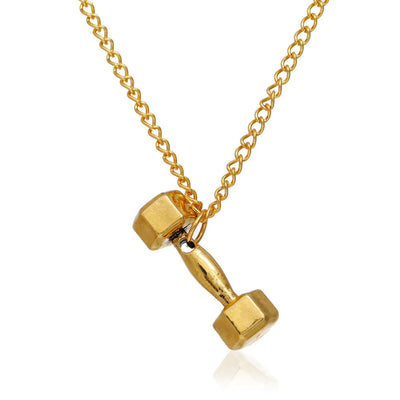 Dumbbell Fitness Necklace Chain-The XYZ Shop