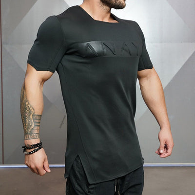 Square Collar Fitness Shirt-The XYZ Shop