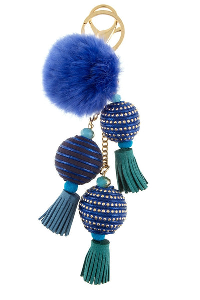 Key Chain - Blue, Neutral, Black