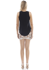 Silk Tank: Black & Bronze