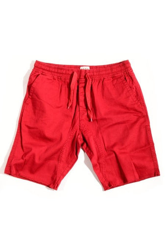 Jogger cut off short w/ drawstring - Red - Bred for Survival