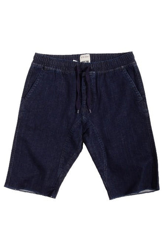 Jogger cut off short w/ drawstring - Rinse Blue - Bred for Survival