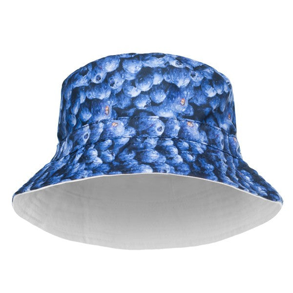 Blueberry Design Printed Bucket Hat - Bred for Survival