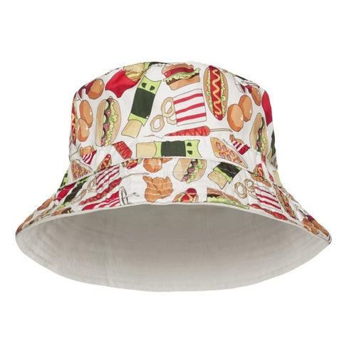 Fast Food Print Bucket Hat - Bred for Survival