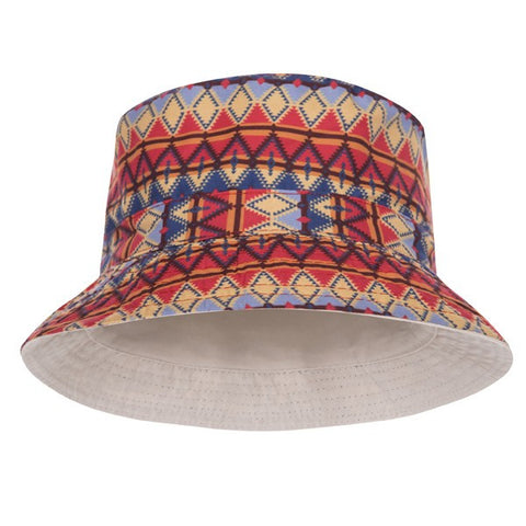 Aztec Peru Design Printed Bucket Hat - Bred for Survival
