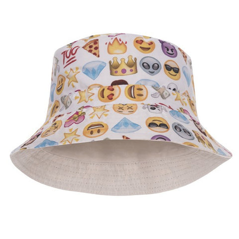 Face 100 Design Printed Bucket Hat - Bred for Survival
