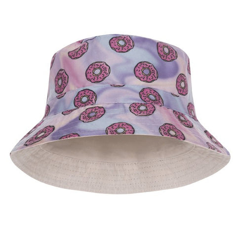 Holo Donuts Design Printed Bucket Hat - Bred for Survival
