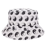 Ying Yang White Print Bucket Hat - Bred for Survival