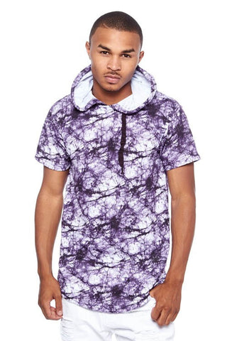 BLEEKER & MERCER PAINT SPLAT TIEDYE HOODIE TOP - Bred for Survival