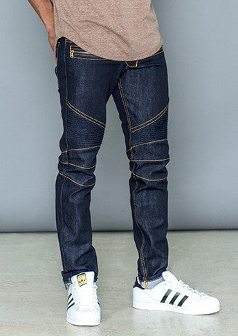 Slim Denim Moto Jeans - Bred for Survival