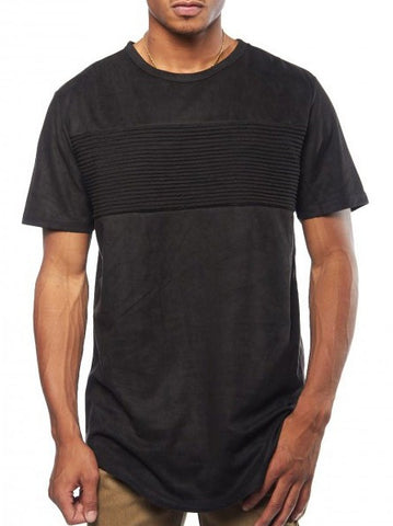 Suede Moto Patch Tee - Bred for Survival
