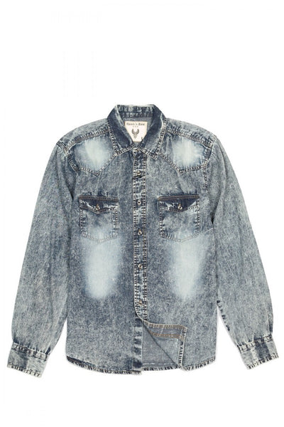 Dark Denim Wash L/S - Bred for Survival