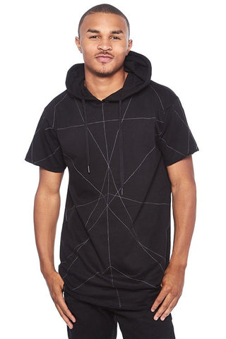 BLEEKER & MERCER STITCHED LINE LONG HOODIE TOP - Bred for Survival