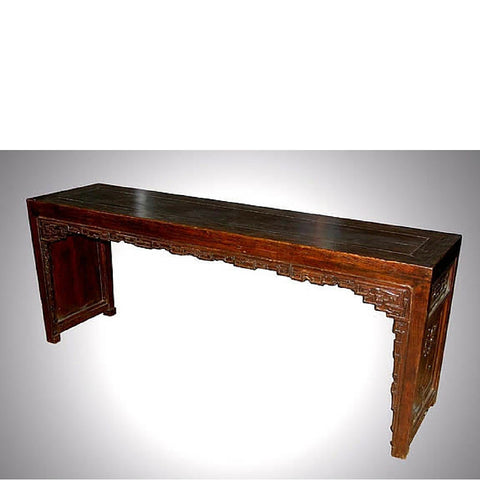 Chinese Antique Ornate Carved Altar Table
