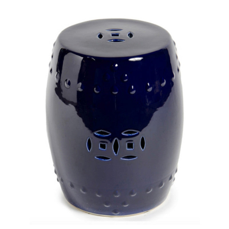 Cobalt Blue Chinese Garden Stool
