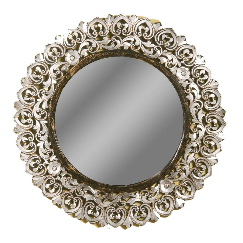 Large Round Handcut Glass Mirror
