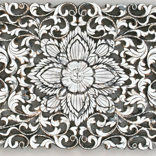 Flower Pattern in Ornate Hand Cut Glass Mirror Wall hanging