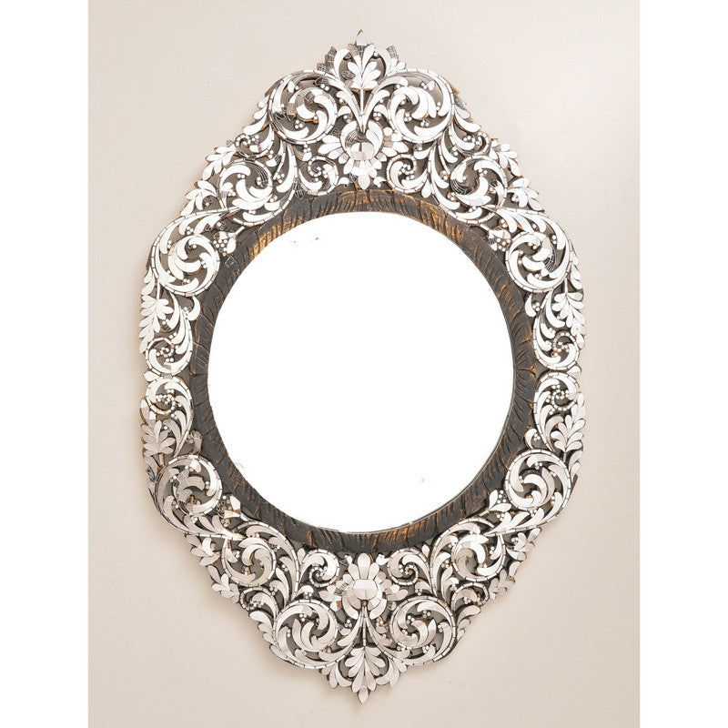 Handcut Glass Marquis Mirror